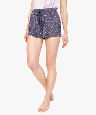 Short de pyjama femme en matière satinée imprimée vue1 - GEMO(HOMWR FEM) - GEMO