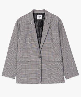 Veste femme à motif Prince de Galles vue4 - GEMO (G TAILLE) - GEMO