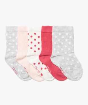 Chaussettes bébé fille (lot de 5) à pois vue1 - GEMO C4G BEBE - GEMO