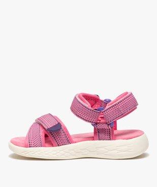 Sandales sport fille extra-légères à scratch vue3 - GEMO (ENFANT) - GEMO