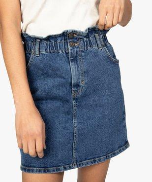 Jupe femme en jean avec taille froncée vue2 - GEMO(FEMME PAP) - GEMO