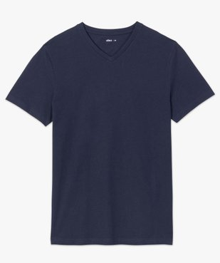 Tee-shirt homme à manches courtes et col V vue4 - GEMO (HOMME) - GEMO