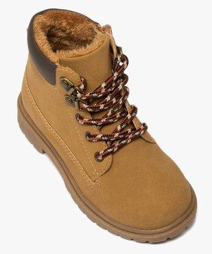 Boots garçon à col rembourré et semelle crantée vue5 - GEMO (ENFANT) - GEMO