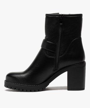 Boots femme unis à semelle crantée et bride fantaisie vue3 - GEMO(URBAIN) - GEMO