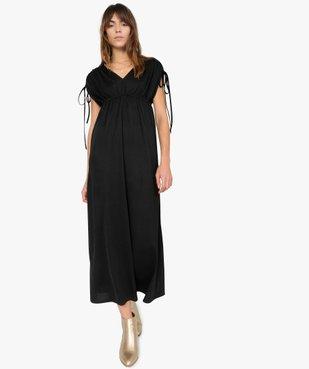 Robe de soirée femme avec manches froncées vue1 - GEMO(FEMME PAP) - GEMO