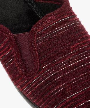 Pantoufles femme mules à talon dessus textile fantaisie vue6 - GEMO(HOMWR FEM) - GEMO