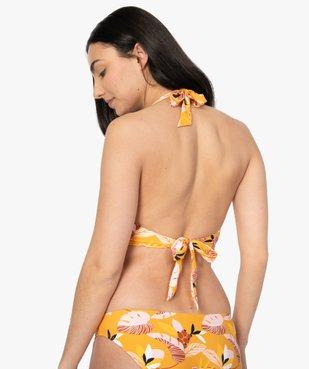 Haut de maillot de bain femme fleuri look rétro vue2 - GEMO (PLAGE) - GEMO