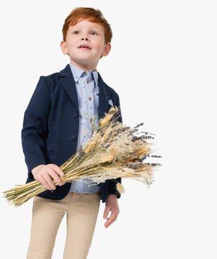 Chemise garçon à fines rayures et motifs vue6 - GEMO (ENFANT) - GEMO