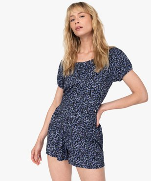 Bas de pyjama femme à motifs fleuris – Lulu Castagnette vue5 - LULUCASTAGNETTE - GEMO
