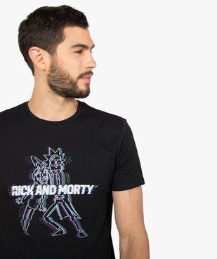 Tee-shirt homme à manches courtes imprimé - Rick et Morty vue2 - RICK ET MORTY - GEMO