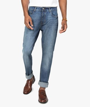 Jean homme straight stretch 5 poches vue1 - GEMO (HOMME) - GEMO
