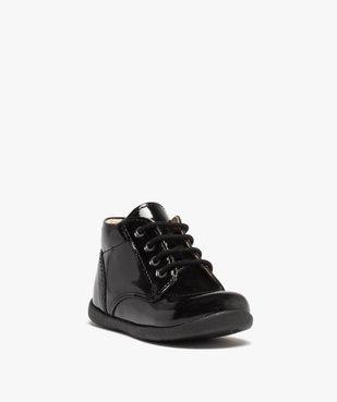 Chaussures premiers pas bébé fille à lacets dessus cuir verni vue2 - Nikesneakers(BEBE DEBT) - Nikesneakers