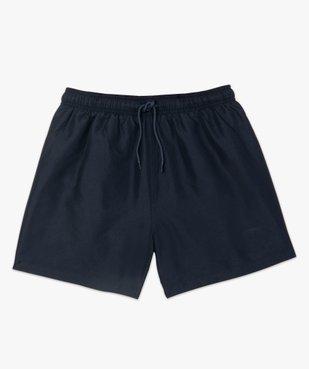 Short de bain homme uni vue4 - GEMO (PLAGE) - GEMO
