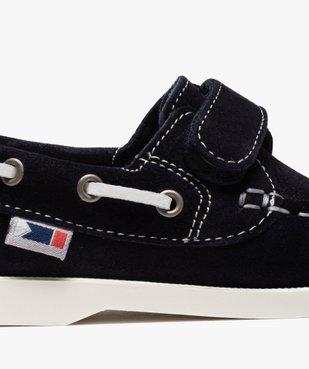 Chaussures bateau garçon dessus cuir à fermeture scratch Dessus cuir retourné uni vue6 - Nikesneakers (ENFANT) - Nikesneakers