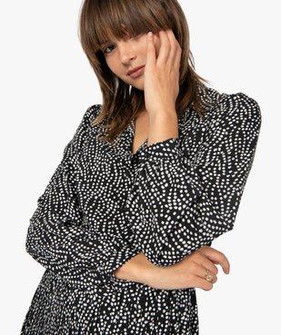 Robe femme midi imprimée à manches longues et col chemise  vue2 - GEMO(FEMME PAP) - GEMO
