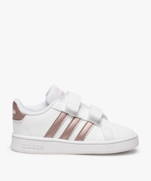 Baskets fille à scratch Grand Court Adidas vue1 - ADIDAS - Nikesneakers