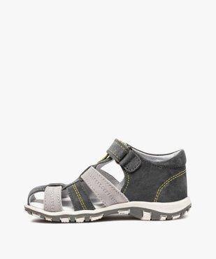 Sandales garçon à scratch à brides multiples en cuir vue3 - Nikesneakers (ENFANT) - Nikesneakers