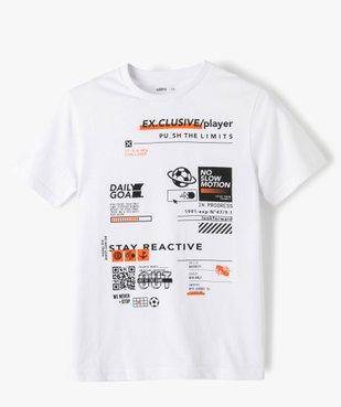 Tee-shirt garçon imprimé à manches courtes vue1 - GEMO (JUNIOR) - GEMO