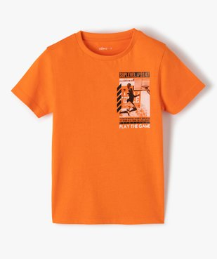 Tee-shirt garçon imprimé à manches courtes vue1 - GEMO (ENFANT) - GEMO