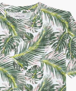 Tee-shirt garçon avec imprimé tropical vue2 - GEMO (JUNIOR) - GEMO