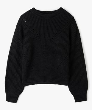 Pull fille à grosse maille et perles vue1 - Nikesneakers (JUNIOR) - Nikesneakers