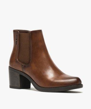 Boots femme unies à talon style chelsea – Tom Tailor vue2 - TOM TAILOR - GEMO
