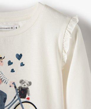 Tee-shirt fille avec motifs multimatières – Lulu Castagnette vue3 - LULUCASTAGNETTE - GEMO