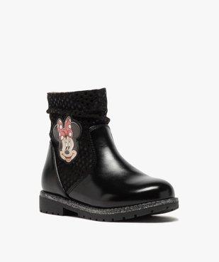 Boots fille à semelle crantée et finitions pailletées - Minnie  vue3 - MINNIE - GEMO