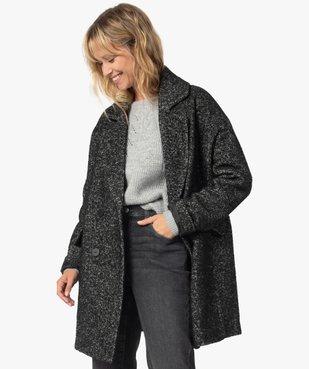 Manteau femme mi-long à double boutonnage vue2 - Nikesneakers(FEMME PAP) - Nikesneakers