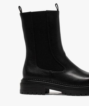 Boots femme unies style chelsea à semelle épaisse et crantée vue6 - GEMO (CASUAL) - GEMO