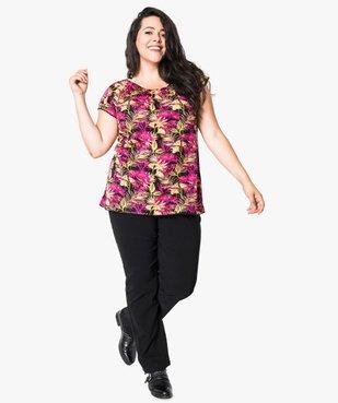 Pantalon femme droit en toile fine stretch vue5 - GEMO (G TAILLE) - GEMO