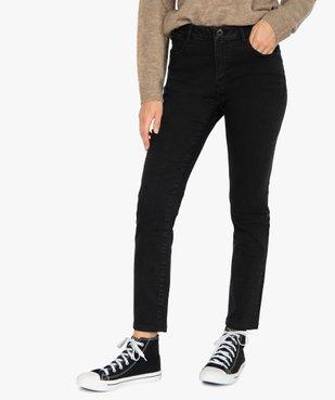 Jean femme slim à taille haute noir - L26 vue1 - GEMO(FEMME PAP) - GEMO