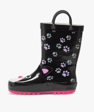 Bottes de pluie fille motif chat en relief avec anses vue3 - GEMO (ENFANT) - GEMO