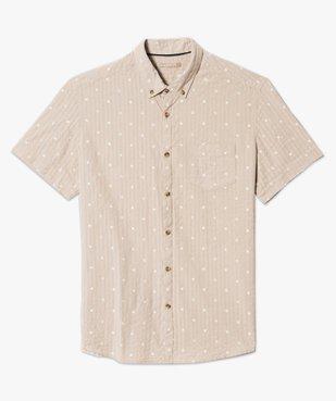 Chemise manches courtes à motifs vue4 - GEMO (HOMME) - GEMO