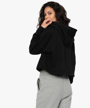 Sweat femme à capuche coupe courte - CAMPS vue3 - CAMPS UNITED - GEMO