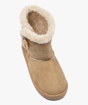 Boots fille en suédine à col fourré – LuluCastagnette vue5 - LULU CASTAGNETT - Nikesneakers