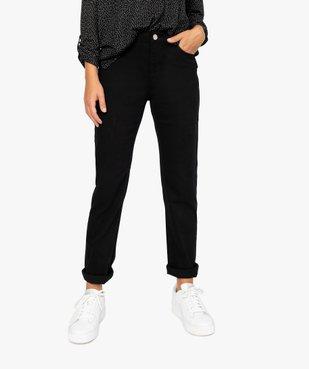 Jean femme en toile unie 4 poches coupe Regular - Longueur L30 vue1 - GEMO (JEAN) - GEMO