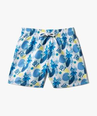 Short de bain garçon à motifs marins vue1 - GEMO (ENFANT) - GEMO