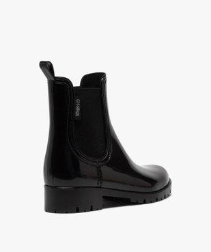 Boots de pluie femme style chelsea unis - Boatilus vue4 - BOATILUS - GEMO