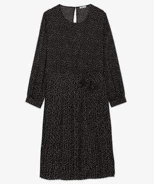 Robe femme courte plissée à manches longues vue4 - GEMO (G TAILLE) - GEMO