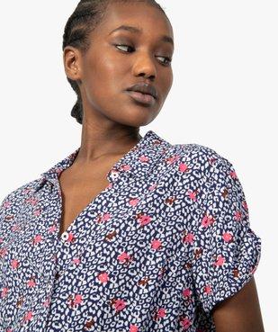 Chemise femme à manches courtes imprimée vue2 - GEMO(FEMME PAP) - GEMO