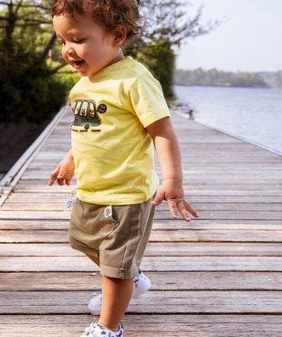 Tee-shirt bébé garçon à manches courtes avec motifs vue6 - GEMO C4G BEBE - GEMO