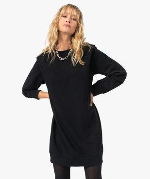 Robe femme sweat avec épaulettes - LuluCastagnette vue2 - LULUCASTAGNETTE - GEMO