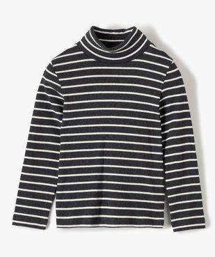 Tee-shirt garçon rayé à manches longues et col montant vue1 - GEMO (ENFANT) - GEMO