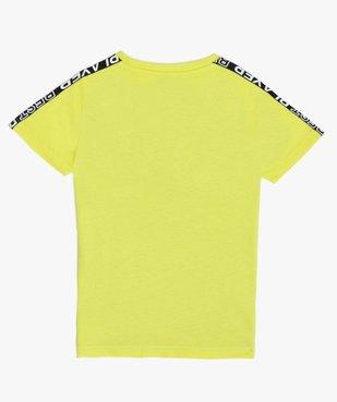 Tee-shirt garçon tricolore spécial sport vue3 - GEMO (ENFANT) - GEMO