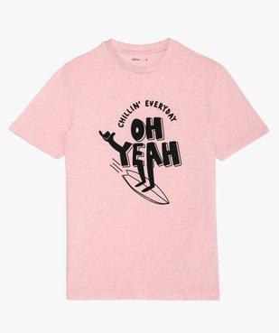 Tee-shirt garçon avec inscription contrastante vue1 - GEMO (JUNIOR) - GEMO