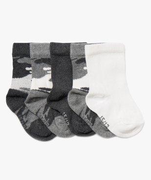 Chaussettes bébé garçon à motif camouflage (lot de 5) vue1 - Nikesneakers C4G BEBE - Nikesneakers
