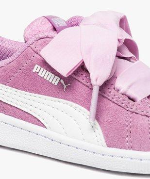 Basket en cuir suédé avec lacets satin - Puma Heart vue6 - PUMA - GEMO