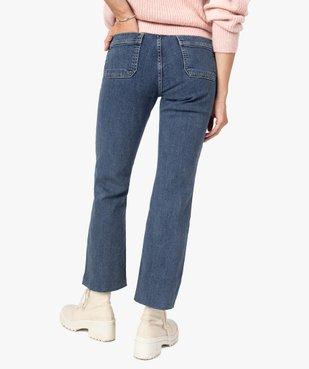 Jean femme coupe droite avec poches plaquées vue3 - GEMO(FEMME PAP) - GEMO