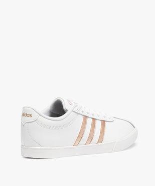 Baskets femme bicolores à lacets – Adidas Courtset vue4 - ADIDAS - Nikesneakers